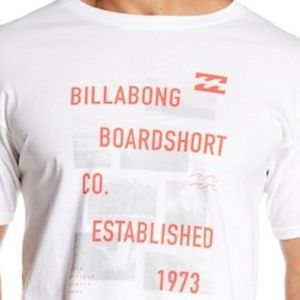 600bbeb20a BILLABONG Mens 2XL White LAYOVER Graphic Tee shirt NWT